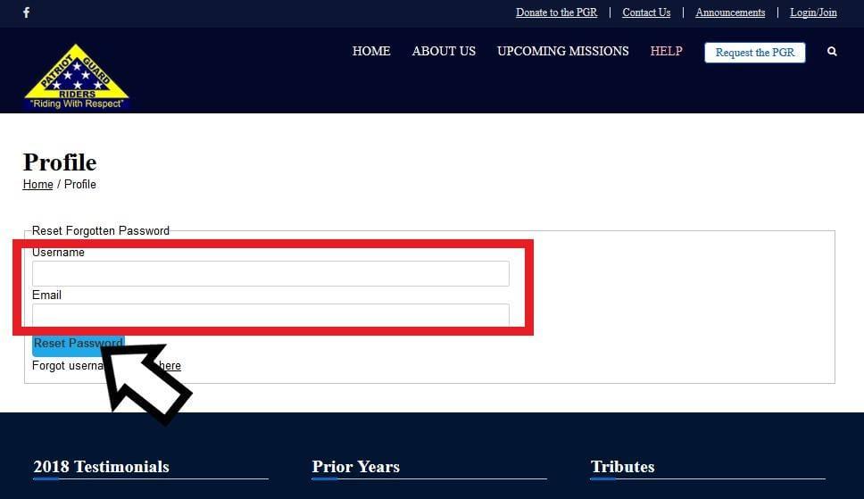 New National PGR Website Site
